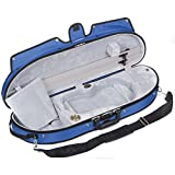 Bobelock Half Moon Puffy 1047P 4/4 Violin Case with Blue Exterior and Grey Velour Interior