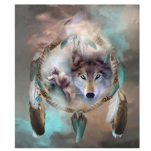 "UPC 712182347209, HEWADY DIY 5D Diamond Painting Kit, Wolf Crystal Full Diamond Rhinestone Painting By Number Cross Stitch Kit Embroidery Craft Home Decor(11.8""x13.8"")"