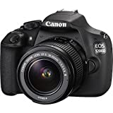 Canon EOS 1200D DSLR-Kamera (18 Megapixel CMOS-Sensor, 7,5 cm (3 Zoll) TFT-Display, 30 fps, HDMI, USB 2.0) mit EF-S 18 bis 55mm DC III Objektiv