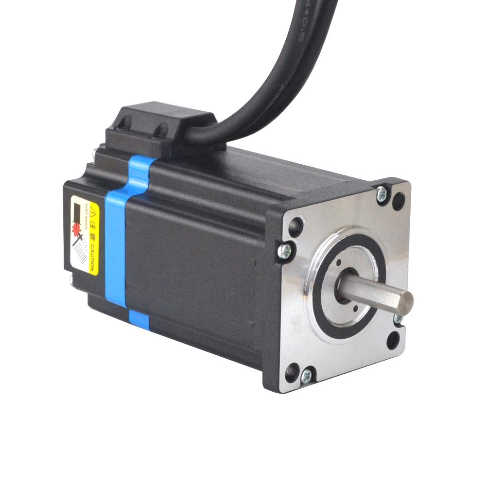 Nema 24 Closed loop Stepper Motor & Stepper Driver /& 2 Extension Cable 495.74 oz.in STEPPERONLINE 1 Axis Closed loop Stepper CNC Kit 3.5 Nm