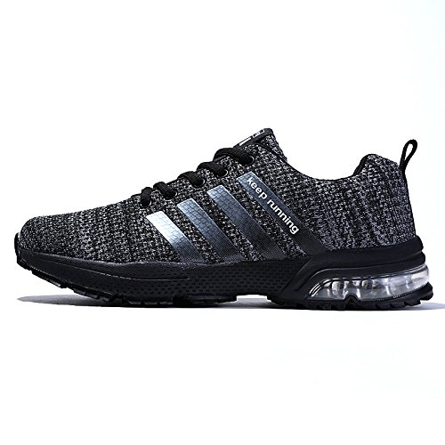 Cushion Sneakers - XIDISO Men's Running Shoes Air Cushion Fashion Breathable Lightweight Sneakers Athletic Walking Shoe