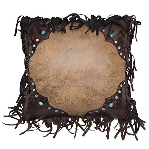 Carstens Western Turquoise Bead Pillow