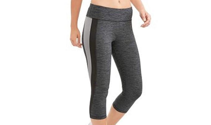91f15fd48075 Athletic Works Women's Active Performance Dri-Works Yoga Capri Leggings  Grey Melange ...