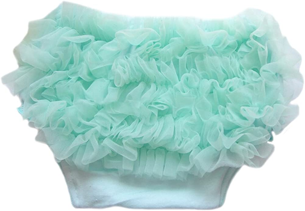 DELEY Baby Girls Solid Lace Pettiskirt Ruffle Bloomers Briefs Panties Nappy Diaper Covers