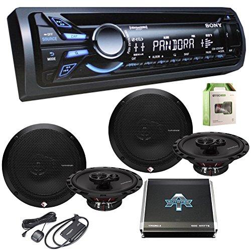 Sony CDXGT570UP CD/MP3 Car Stereo Receiver W/ Rockford R1...