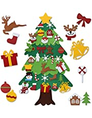GREENLEAF DIY Felt Christmas Tree Set 3.5ft, Xmas Decorations Wall Hanging Detachable Ornaments Kids Gifts New Year Party Supplies