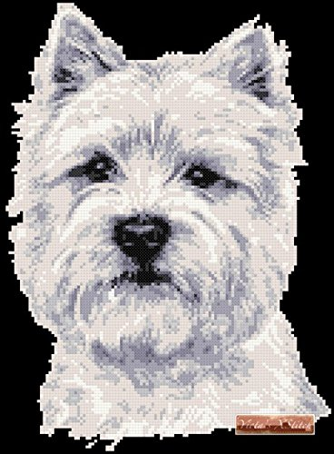 Westie - Face Counted Cross Stitch Kit