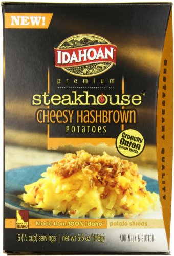 Idahoan Steakhouse Cheesy Hashbrown, 5.5 Ounce (Pack of 8) by Idahoan
