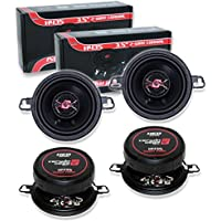 4) CERWIN VEGA HED H435 3.5 2-WAY 150W CAR AUDIO COAX SPEAKERS (2 PAIRS)**