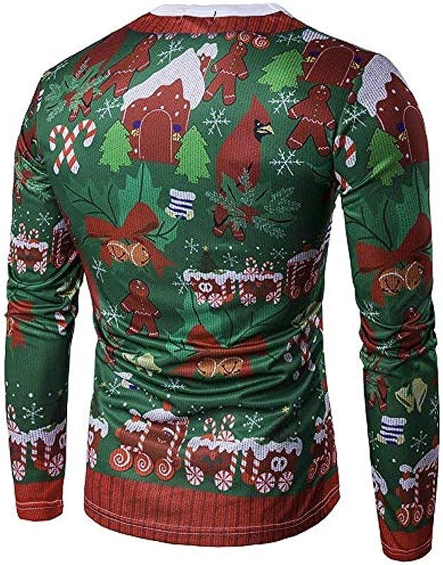 Targogo męski jesień zima świąteczny sweter z motywem świątecznym 3D z nadrukiem Fashion Sweatshirt sweter dziergany casual okrągły dekolt koszulka z długim rękawem gÓrne