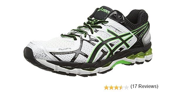 ASICS Gel-Kayano 21 - Zapatos de Correr para Hombre, Color Blanco (White/Black/Flash Green 0190), Talla 51.5: Amazon.es: Zapatos y complementos