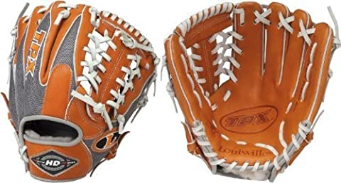 Louisville Slugger 11.5-Inch TPX HD9 Hybrid Defense Ball Glove - Orange/Gray (Right Hand Throw) - Tpx Pitcher Glove