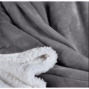 Amazon.com: Berkshire Home Loftmink Sherpa Reversible Throw ...