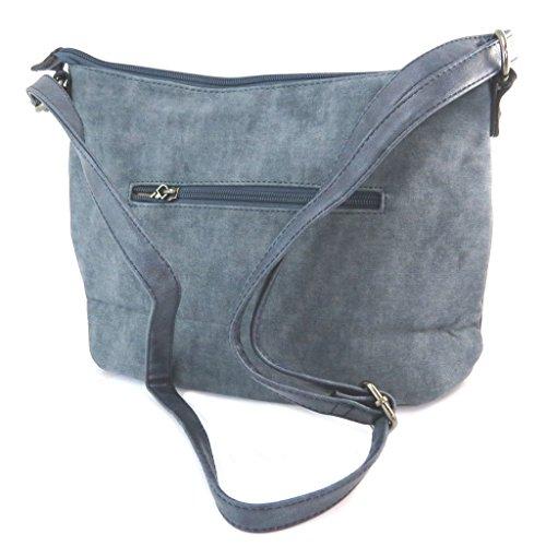 Bolsa de diseño 'Scarlett'azul - 32x23x7.5 cm.