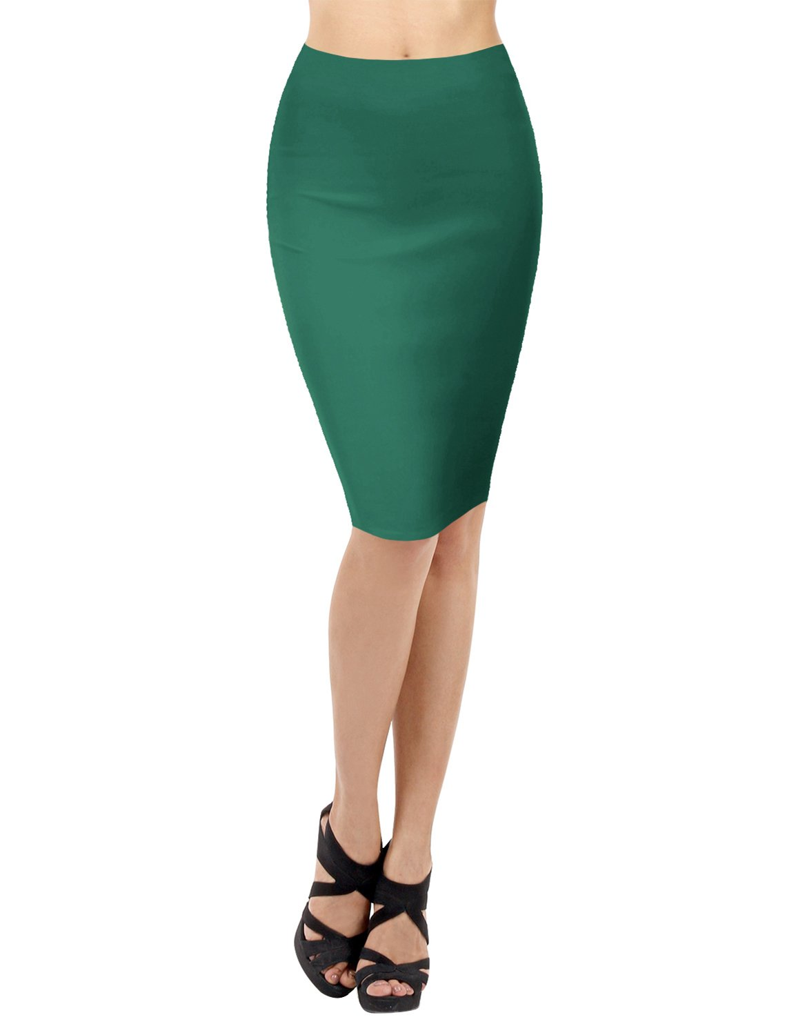 c0c4f0c362b0 ... TWINTH Pencil Skirts Plus Size Casual Skirt Elastic Waist Band Scuba  Streychy Solid Color NEWCWBMS04 ...