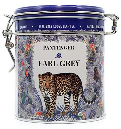 - Earl Grey Tea Loose Leaf. Finest Organic Earl Grey Loose Leaf 3.5 Oz. Pantenger Earl Grey Tea is a Blend of Bergamot Essential Oil And Ceylon Black Tea Leaves. Bergamot Oil Scented Loose Leaf Tea.