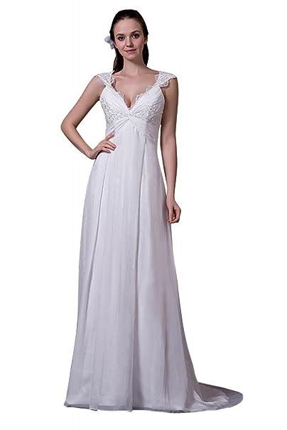 George Bride Completo Estimulante encantadora Profundidad Cuello En V Vestido De Novia Para Vestido de noche