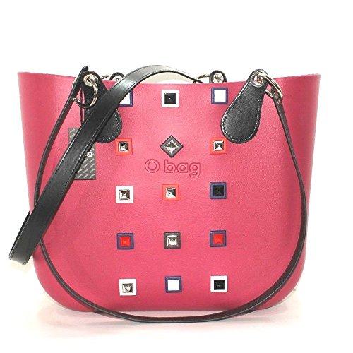 Borsa o bag grande sangria con borchie manico lungo e sacca limited edition (K)