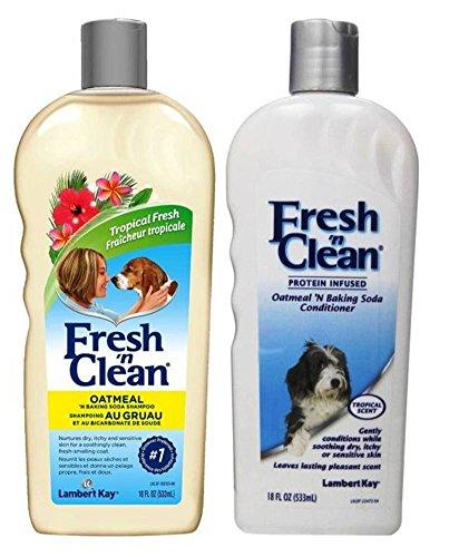 Fresh 'N Clean Dry Skin Oatmeal 'N Baking Soda Shampoo & Conditioner Tropical Scent Bundle: (1) Fresh 'N Clean Oatmeal Baking Soda Shampoo, and (1) Fresh 'N Clean Oatmeal Baking Soda Conditioner (Kay Oatmeal Lambert)