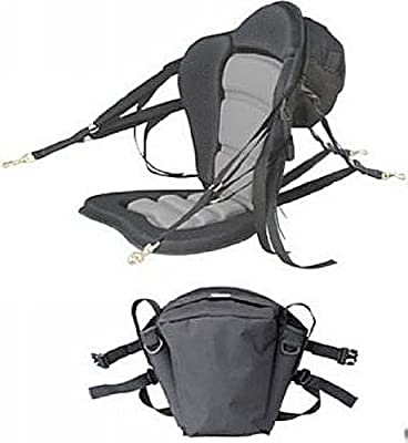 Deluxe Molded Foam Kayak Seat with detachable back packs. Kayak Fishing Seat. Backpack comes with 2 rod holders.