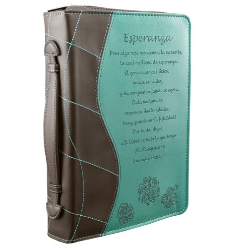Turquoise Esperanza Bible / Book Cover - Lamentations 3:21-24 (Large) (Spanish Edition)