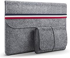 HOMIEE Laptopfodral, 15,4-15,6 tums skyddskåpa för bärbar datorfodral med extra förvaringsskydd och musmatta för...