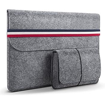 bffc0dac9f3f Amazon.com: BURUIS 13.3 Inch Felt Laptop Sleeve, Slim Envelope Case ...