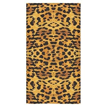 """Personalizado estampado de leopardo toalla de baño toalla de playa Baño Cuerpo Ducha (30 """""""