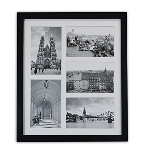 Golden State Art, 11.6x13.7 Black Photo Wood Collage Frame w