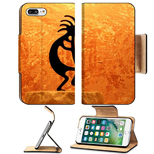 MSD Premium Apple iPhone 7 Plus Flip Pu Leather Wallet Case IMAGE ID: 1833255 kokopelli