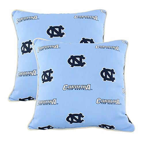 Carolina Decorative Pillow - College Covers NCUODPPR North Carolina Tar Heels Outdoor Decorative Pillow Pair, 16