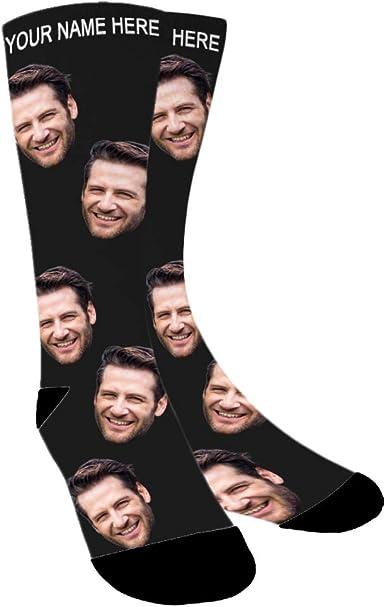Custom Face Socks Custom Photo Socks Face on Socks Him or Best Friends Stripe Picture Socks Funny Gift For Her Personalized Socks