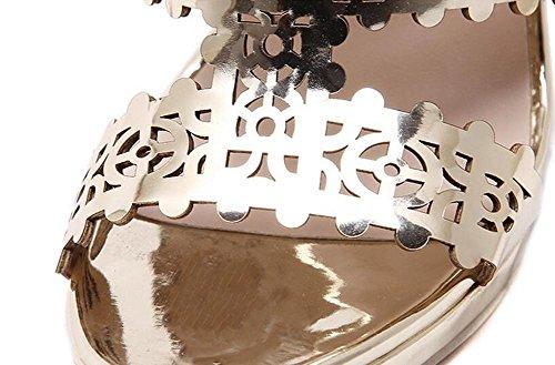 Gold Or Robe Aiguilles L Molleton Talons Femmes Talon Printemps Club yc Chaussures Autres 0SFq7