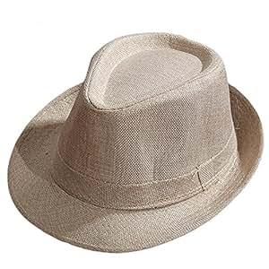 e334b75cacf55 Nikgic Unisex Jazz Sombrero Alemán Retro Sombrero de Paja Sombrero de Paja  Sombrero de Verano Playa Sombrero Protector Solar Sombrero De Paja schlapp  ...
