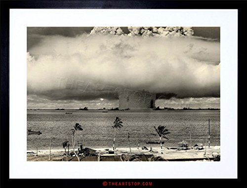 The Art Stop Vintage Photo Atomic Bomb Mushroom Cloud Bikini Framed Print F97X7646