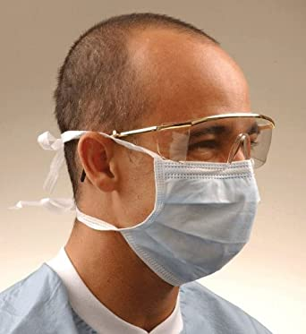 bx 50 Blue Crosstex Tie-on International Gcs Mask Amazon Surgical
