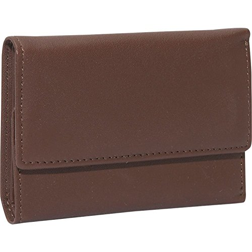 (Royce Leather Trifold Key Case Organizer Wallet in Leather, Brown)