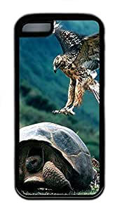 for iphone 4/4s Case Turtle and birds TPU for iphone 4/4s Case Cover Black