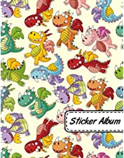 Sticker Album: Dragon Scales Soft Cover Blank Sticker Album, Sticker Album For Collecting Stickers For Adults And Kids, Blank Sticker ... Cute Dragon.