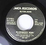 Elton John 45 RPM Elderberry Wine / Crocodile Rock