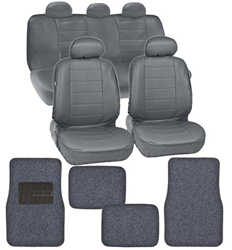 Motor Trend Gift Pack - Premium Leatherette Car Seat Covers