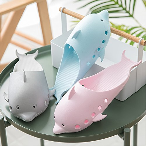 TELLW Bathroom Slippers for Male Female Summer Home Indoor Anti-Slip Thick Bottom Cool Slippers Women Green Ssf0ts5JyW