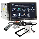 "Ouku Free Camera Included 7"" 2 Din TFT Touch Screen In-dash Car DVD Player with ,Ipod-input,rds,atv (Best Seller)"