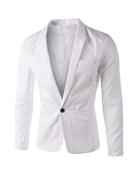 79351dfb82687 HaiDean Slim Fit Blazer Blazer Los De Button Hombres Modernas Casual Slim  Fit Fit Blazer Leisure Casual Hombres De Negocios Chaqueta Corta De Manga  Larga  ...