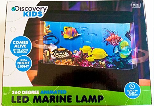 Discovery kids animated tropical fish marine aquarium lamp - Toddler flashlight auto shut off ...