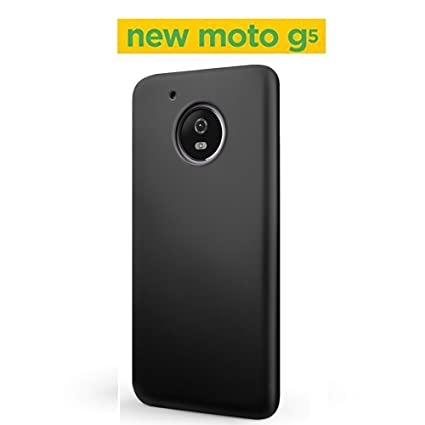 new products f5113 9746e Moto G5 Back Cover - AMFIN Rubberised Matte Hard Back Black Back Case for  Moto G5 Back Cover