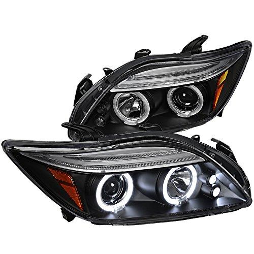 Spec-D Tuning 2LHP-TC05JM-TM Black Projector Headlight (Halo ()