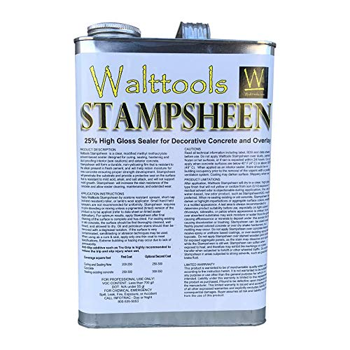 Stampsheen | Ultimate Wet Look, High-Gloss, Cure & Seal, Concrete Sealer (1 Gal)