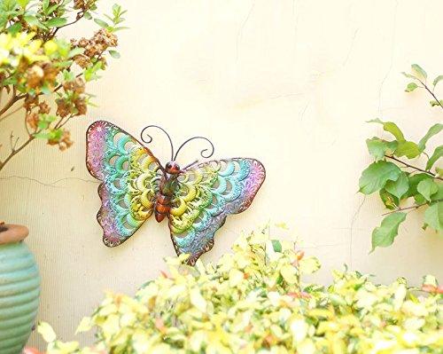 Metal Butterfly Fence Hanger Wall Art Yard Outdoor Lawn Garden Decor