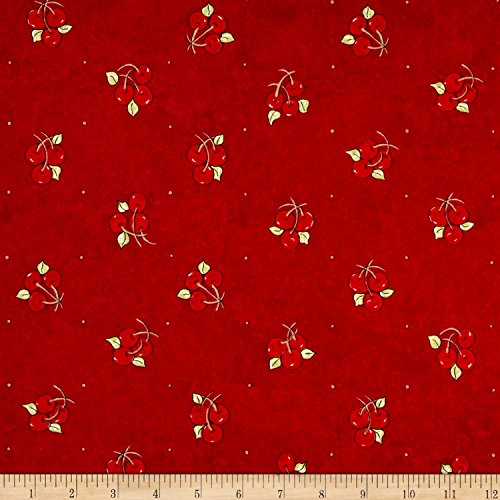 Riverwoods Collection Riverwoods Vintage Vogue Laundry Cherries Red Fabric by The Yard